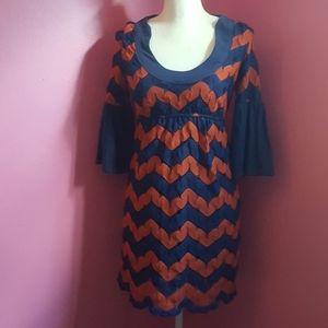 Anthropologie Judith March Chevron Knit Dress